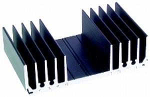 HS8590 - HEATSINK 125X75 HEAVY DUTY BLACK