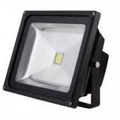 LEDFL30W - 30W LED Floodlight - Black Housing - (240v AC) -  batteries  mono crystalline